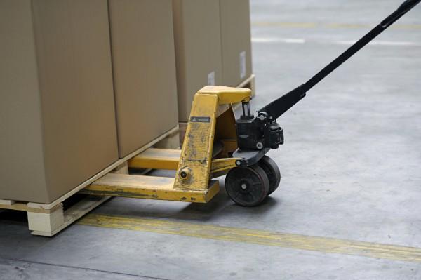 Pallet trolley loading pallets