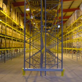 VNA racking using a Bendi VNA forklift truck