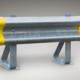 Armco barrier rail - heavy duty barrier for the protection of pedestrian from Forklift traffic