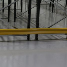 Rack end barrier - protects racking from accidental damage caused by forklift trucks