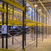Adjustable Link 51 Pallet Racking with forklift access tunnels