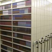 High density storage for DVD's within mobile shelving