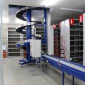 Conveyor Systems - Spiral Conveyors Installed to convey stock between mezzanine floor levels