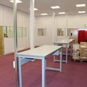 We fitted new carpet tiles to newly created offices & production areas.