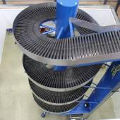 Spiral Conveyors Systems - Shelf Space supplied two Spiral conveyors capable of working in either direction used for loading and picking orders