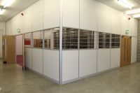 New composite partitioning, power, data, air-conditioning, fitted kitchen and locker room