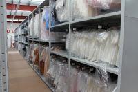 TOver 6'000 adjustable shelf levels and garment hanging rails.
