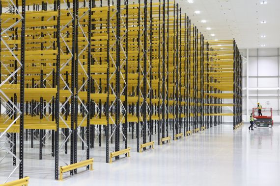 VNA Pallet Racking 11 metres high and providing nearly 5000 pallet locations