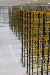 This recent Narrow Aisle Pallet Racking project is capable of storing over 4500 Euro Pallets.