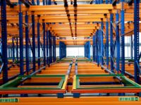 Push back carts storage systems