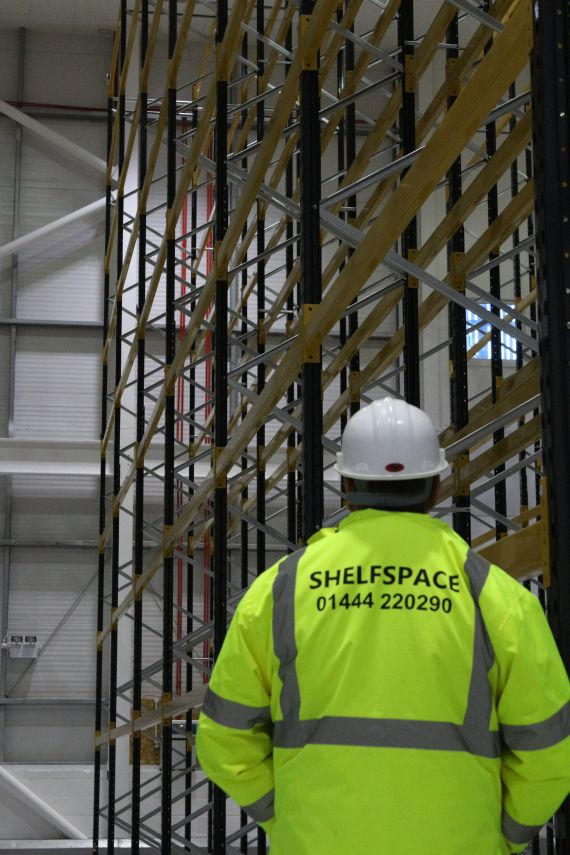 Fully approved SEMA racking inspection completed by Shelf Space partners