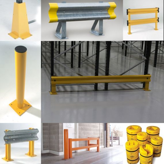 Racking protection systems from Shelf Space. Huge selection of barriers for almost any application